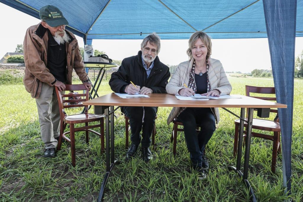 Ondertekening Samenswerkingsovereenkomst - De Watertap - Buur maakt Natuur